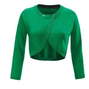 CAbi Piccolo Shrug Green #5008